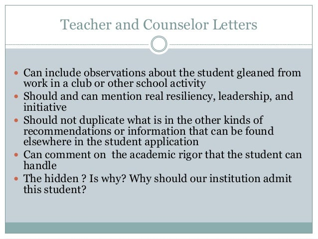 Tips For Writing Powerful Teacher And Counselor Letters Of Recommenda…