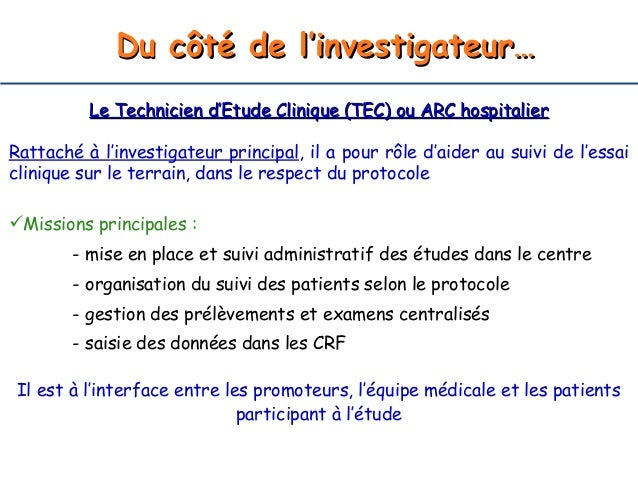 Technicien d etude clinique ccmr - Offre d emploi office manager ile de france ...