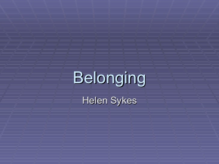 belonging essay 2 related texts Read the 5 related texts for belonging you could use for your studies.