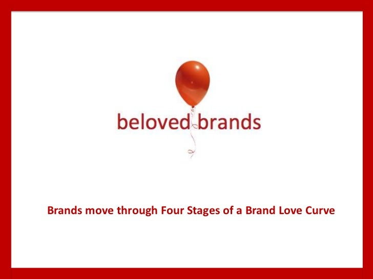 Brands move through Four Stages of a Brand Love Curve