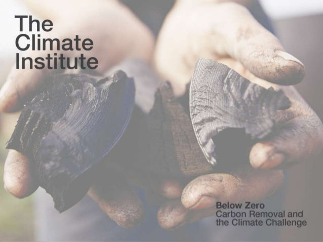  1 Click to edit Master title style Text text text The Climate Institute Below Zero: Carbon Removal and the Climate Chall...