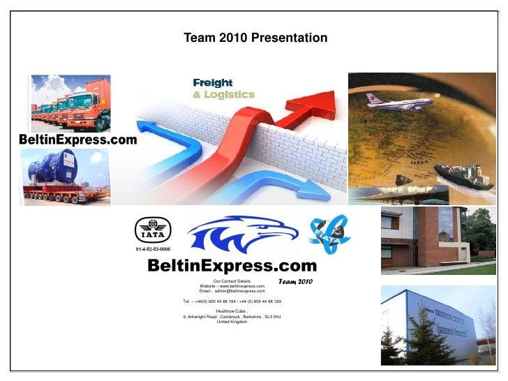 Beltin Express Company Portfolio
