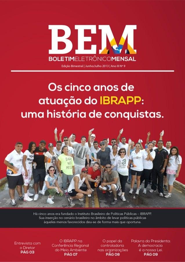 BEM - 9° edição bimestral de julho de 2013