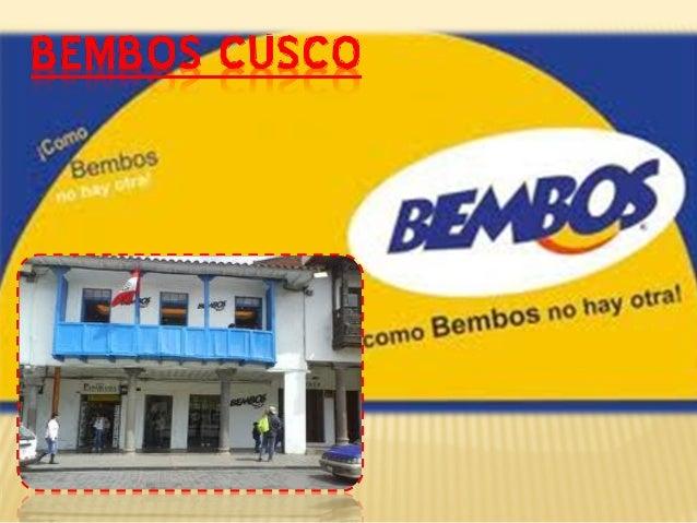 • Bembos, nace en 1988 en Lima, donde una particular geografía, la mezcla de razas y la adaptación de culturas milenarias ...