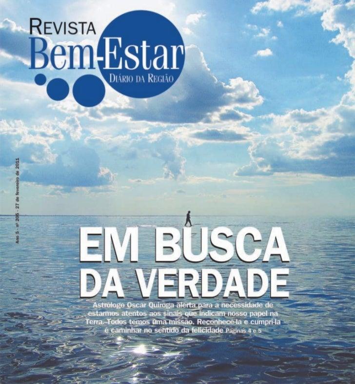 """Revista Bem Estar """"Em Busca da Verdade"""" 27/02/2011"""