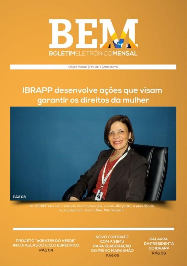 BEM - 6° edição de fevereiro de 2013