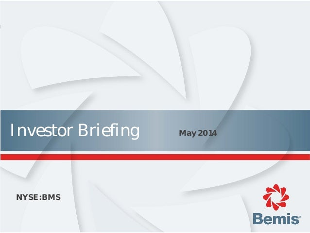 Investor Briefing May 2014 NYSE:BMS