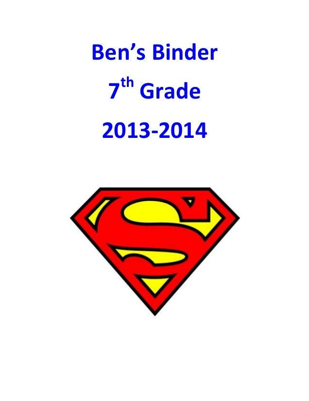 Ben's Binder 7th Grade 2013-2014