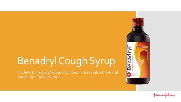 Benadryl cough syrup