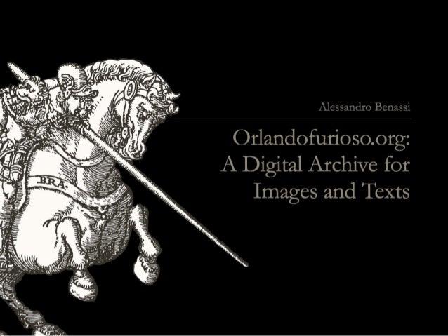 CTL Archive PRIN_06             Orlando Furioso between images and words  Orlando furioso,                Orlando furioso,...