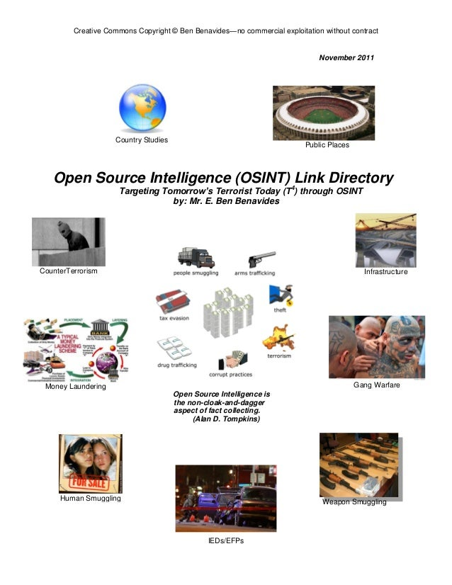 Benavides online osint quick reference handbook new table of contents