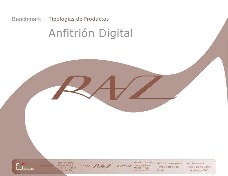 Benchmark    Tipologias de Productos                Anfitrión Digital                          Rodrigo Sainz              ...