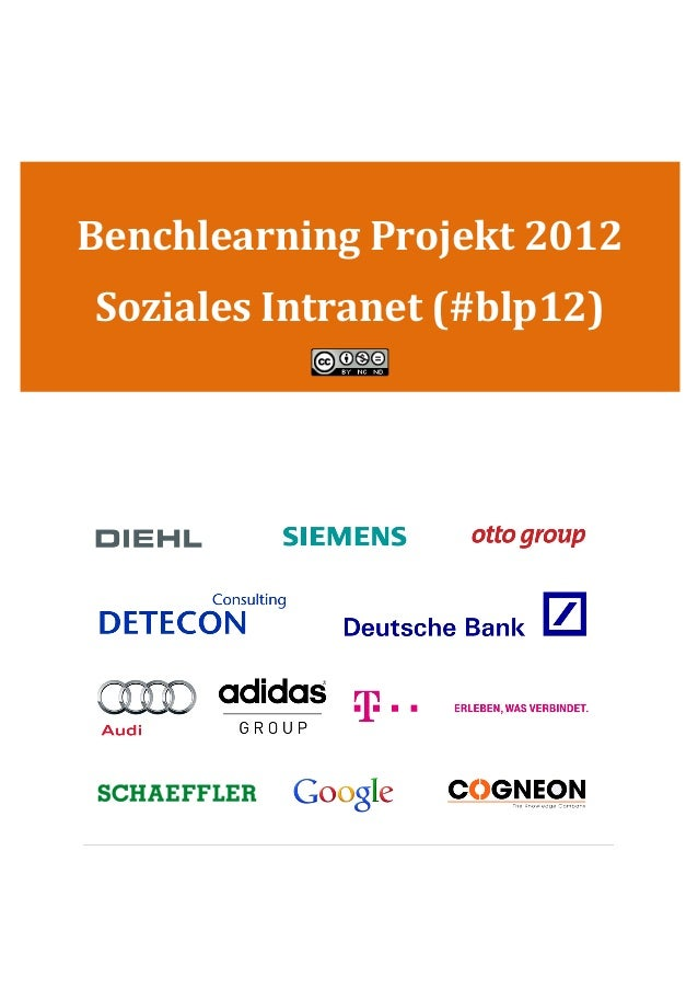 Benchlearning Projekt 2012Soziales Intranet (#blp12)