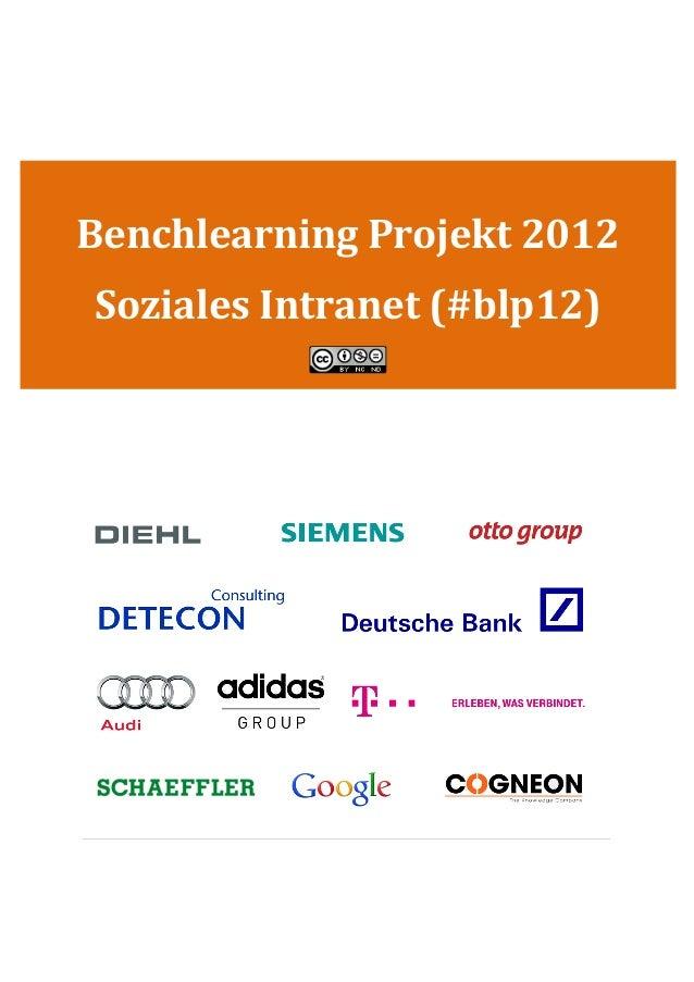 Benchlearning Bericht Social Intranet 2012 (blp12)