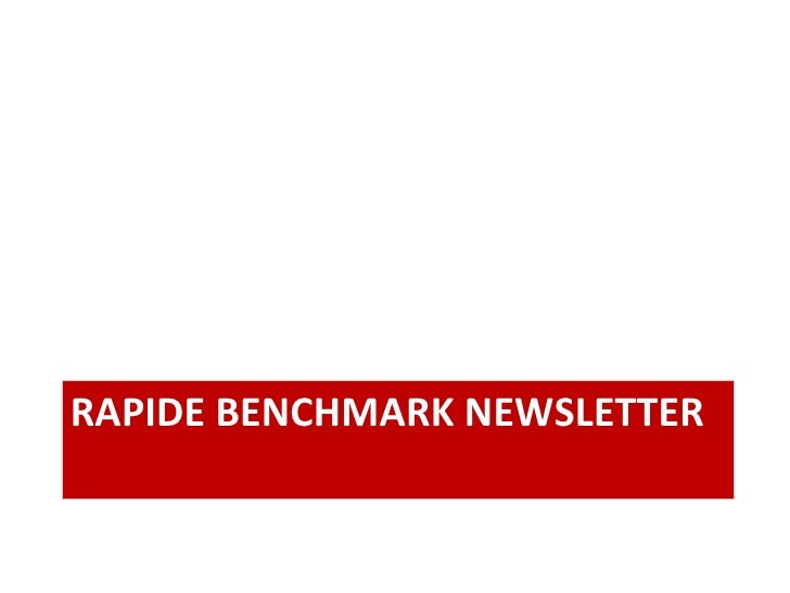 RAPIDE BENCHMARK NEWSLETTER