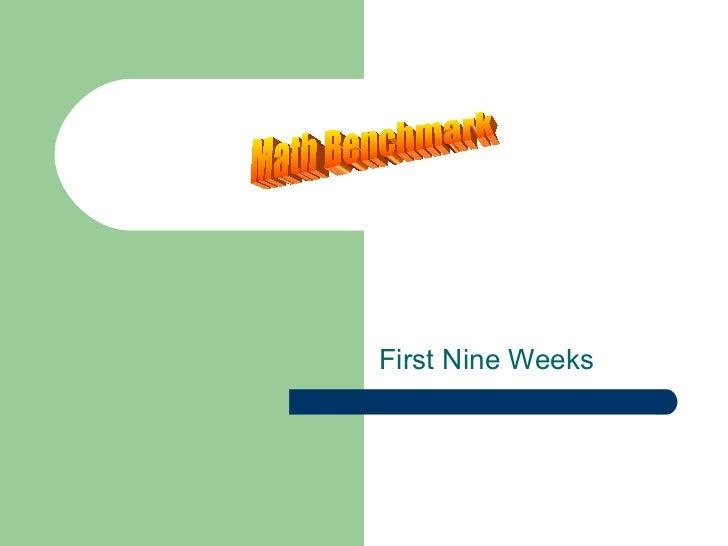 First Nine Weeks Math Benchmark