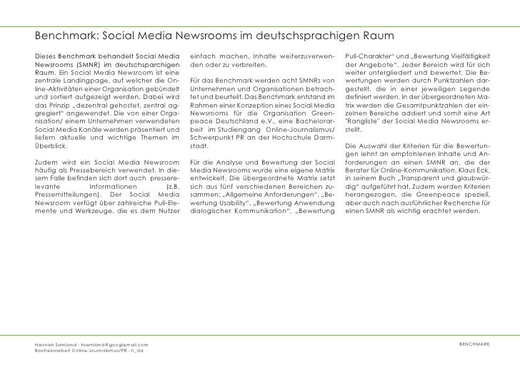Benchmark Social Media Newsroom