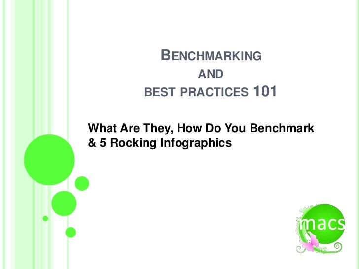 BENCHMARKING               AND        BEST PRACTICES   101What Are They, How Do You Benchmark& 5 Rocking Infographics