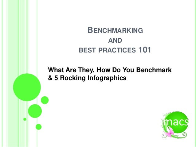 BENCHMARKING AND BEST PRACTICES 101 What Are They, How Do You Benchmark & 5 Rocking Infographics