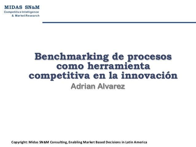 M I D A S SN&MCompetitive Intelligen ce    & Market R esearch                  Benchmarking de procesos                   ...