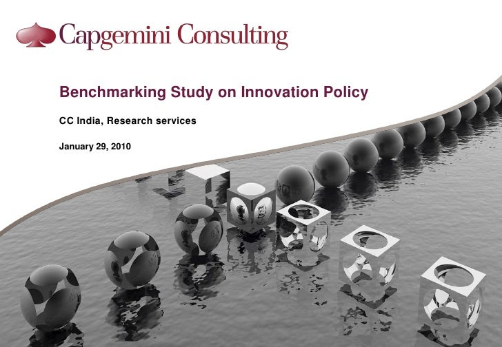 Benchmarking Study On Innovation Policy 29012010