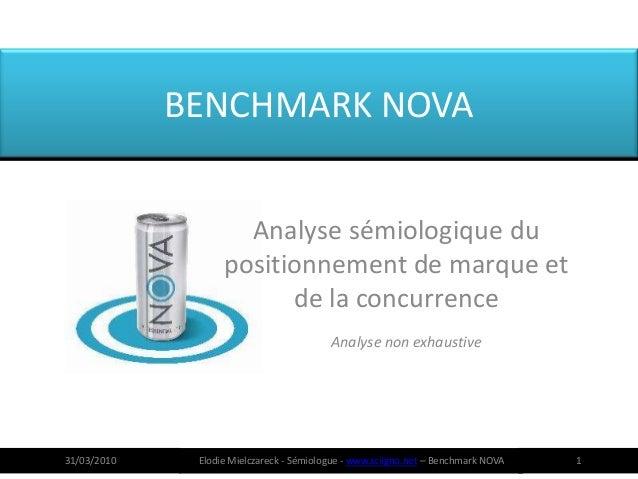 BENCHMARK NOVA                     Analyse sémiologique du                   positionnement de marque et                  ...