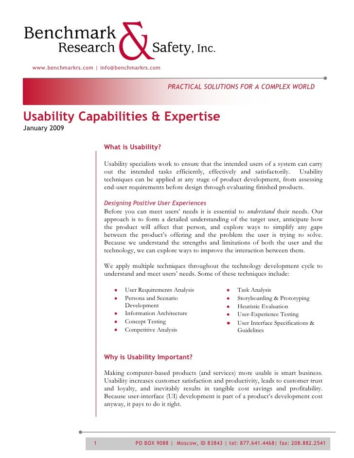Usability Services