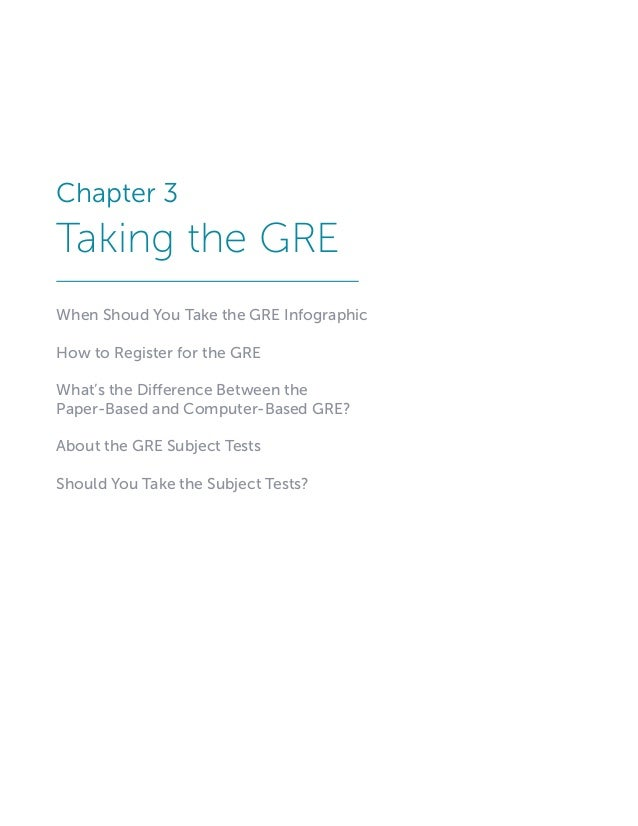 Anyone successfully take the gre?