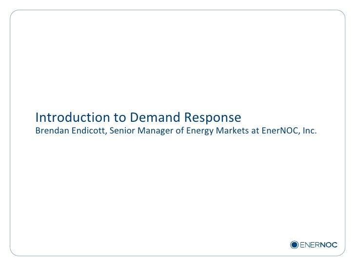 EnerNOC - Cleantech Kingpins