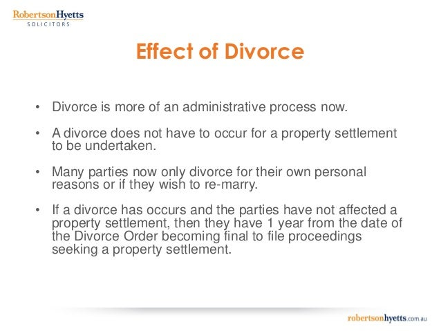 divorce in australia legal studies Year 12 legal studies legal issues and remedies dissolution of marriage- internet work family law act 1975 (cth) created the family court of australia as a.