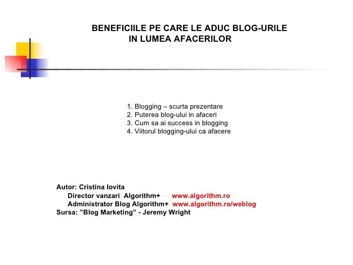 Beneficiile pe care le aduc blogurile in lumea afacerilor