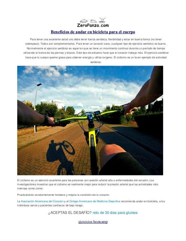 Beneficios de andar en bicicleta para el cuerpo Para tener una excelente salud uno debe tener fuerza aeróbica, flexibilida...
