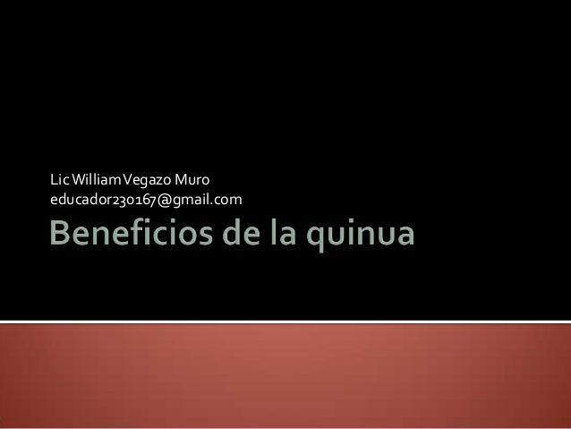 Beneficios de la quinua