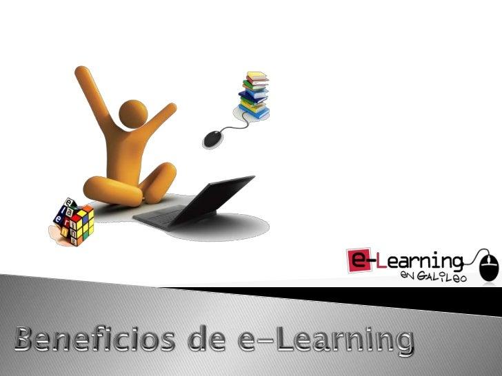 Beneficios de e-Learning<br />