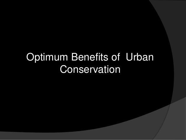 Optimum Benefits of Urban Conservation