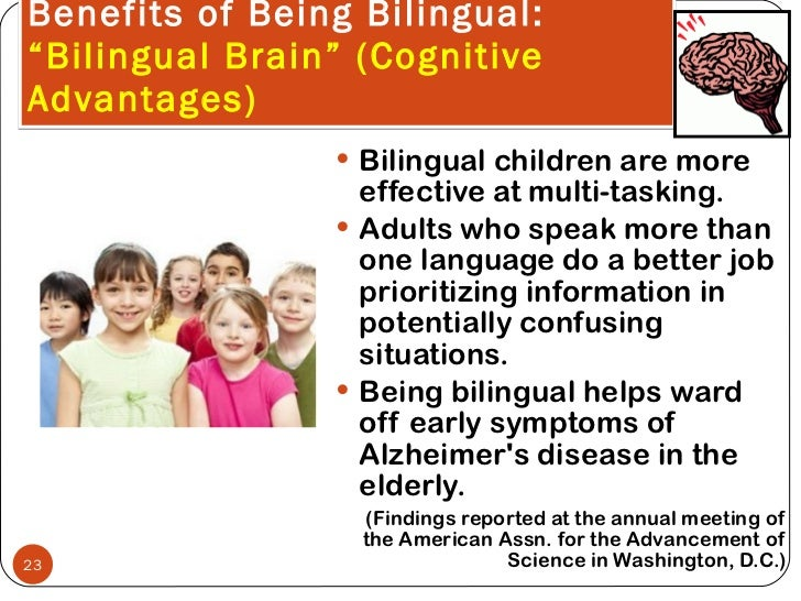 Benefits of being bilingual for adults