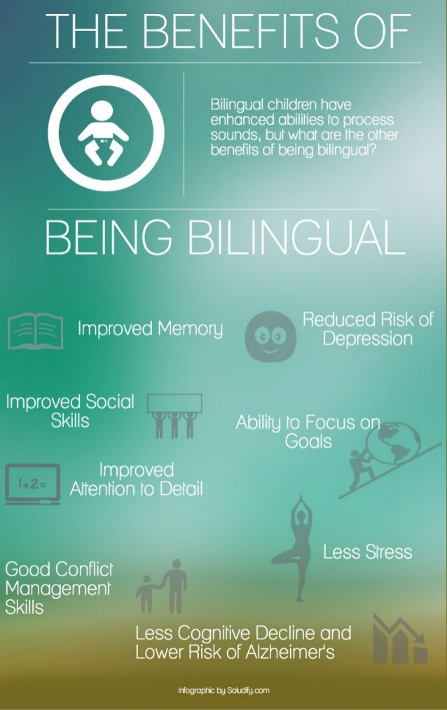 advantages of being bilingual The 6 best things about being bilingual you'll have a leg up in the job market, for one here, the six best advantages to being multilingual.