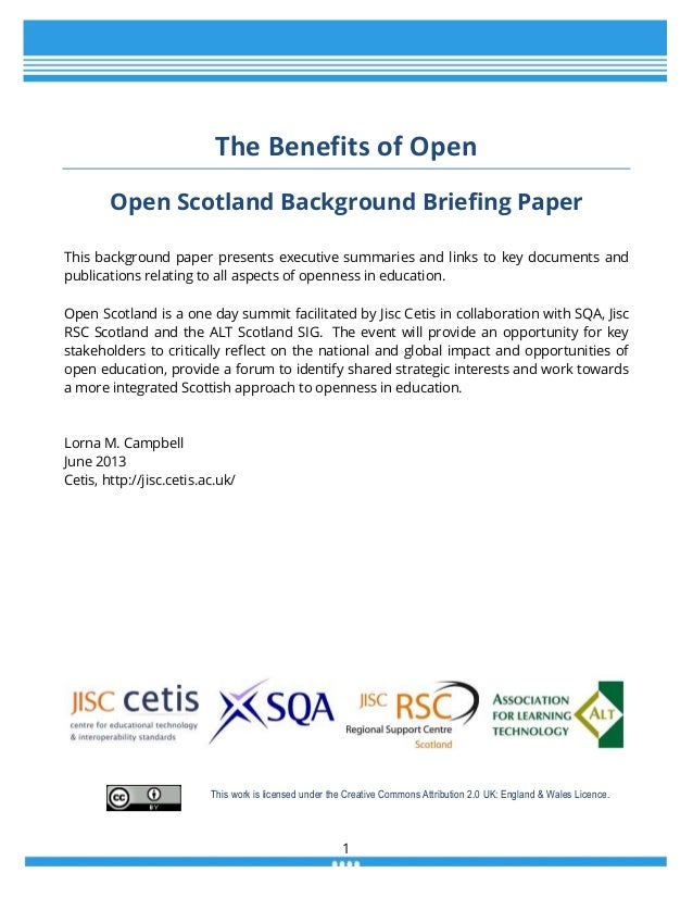 The Benefits of Open
