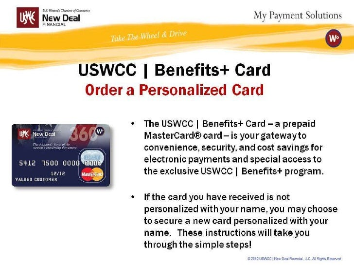 USWCC | Benefits+ Card Personalization