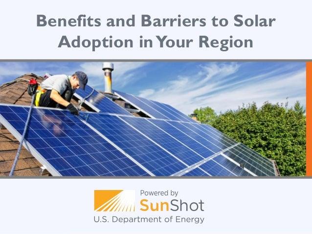 Benefits and barriers to solar development green commuter solar webinar