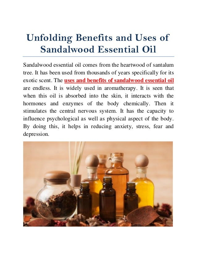 Benefits and uses of sandalwood essential oil