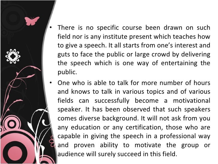 motivational speech essay Motivational speech essay - #1 reliable and professional academic writing aid experience the benefits of qualified writing help available here perfectly crafted and.