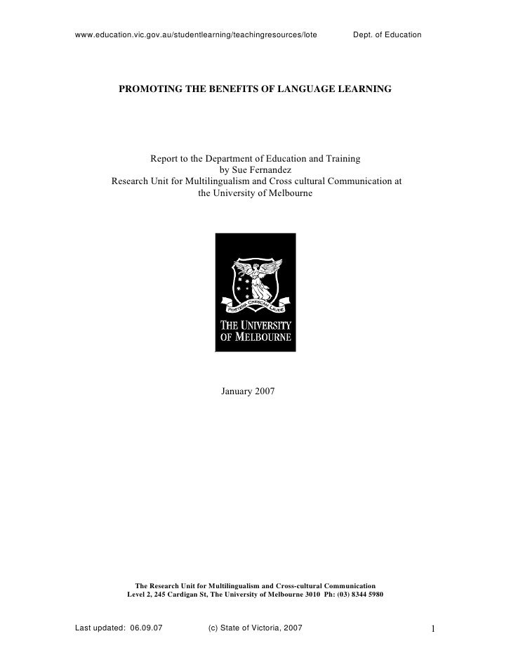 www.education.vic.gov.au/studentlearning/teachingresources/lote                 Dept. of Education                PROMOTIN...