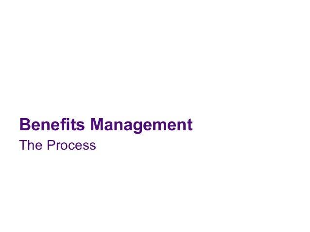 Benefits ManagementThe Process