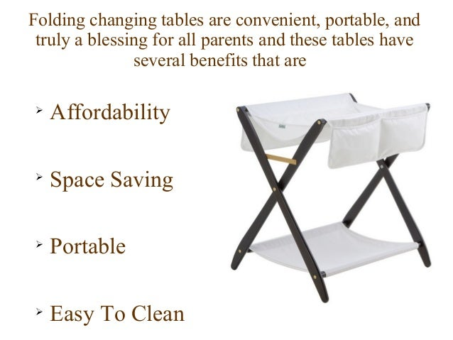 Benefits Of A Folding Baby Changing Table