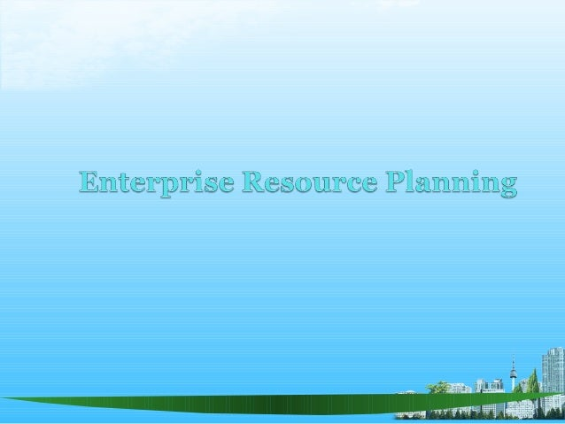 Benefits of an ERP BABASAB PATIL