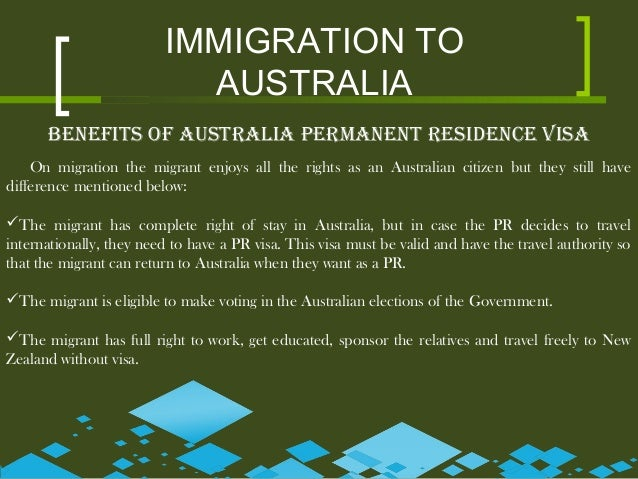 Benefits of Immigration to Australia?!?