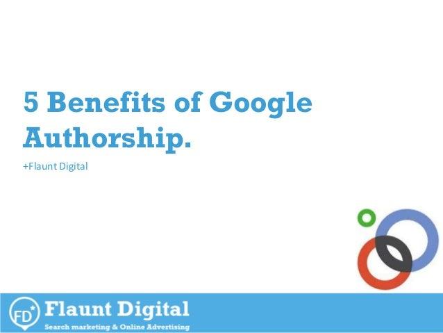 Benefits Of Authorship Within Google