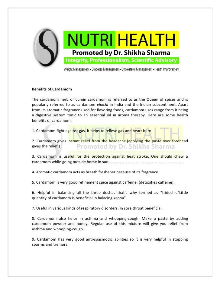 Health Benefits Of Cardamom -by Dr. Shikha Sharma