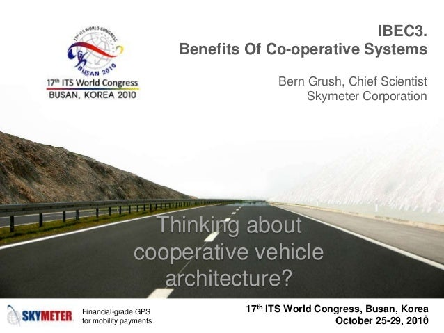 Benefits of co-operative vehicle systems